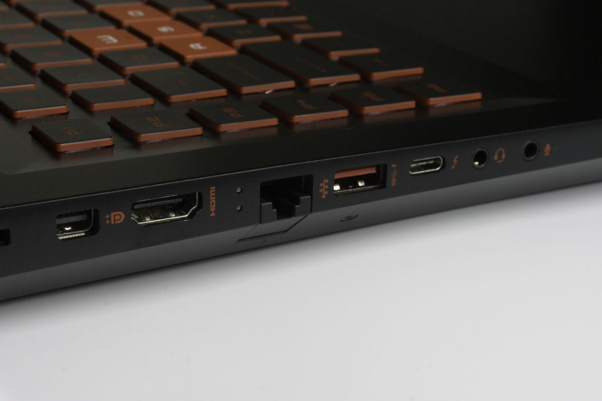 hp omen ports left