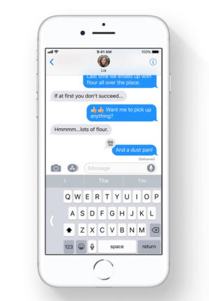 ios11 one handed keyboard iphone