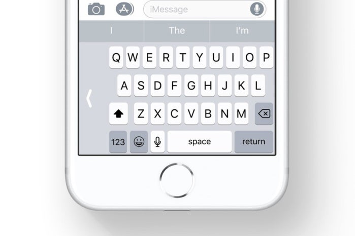 ios11 one handed keyboard stock