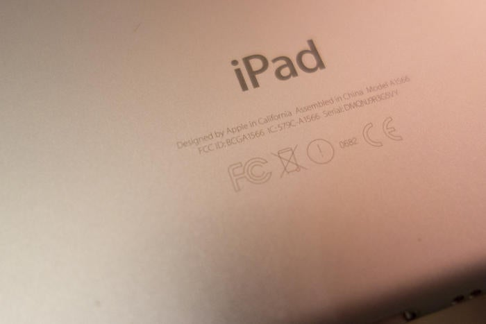 how to check the ipad model number