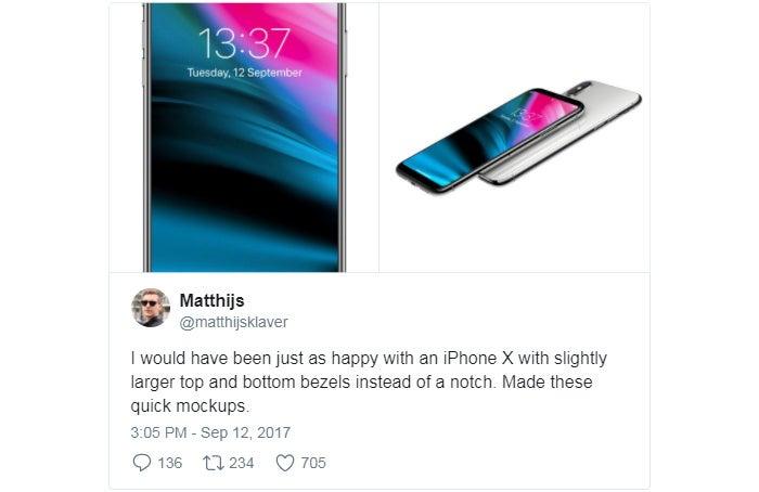 iPhone X Notch-free Mockup