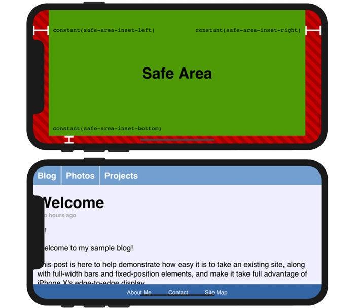iPhone X Notch - Safe Area