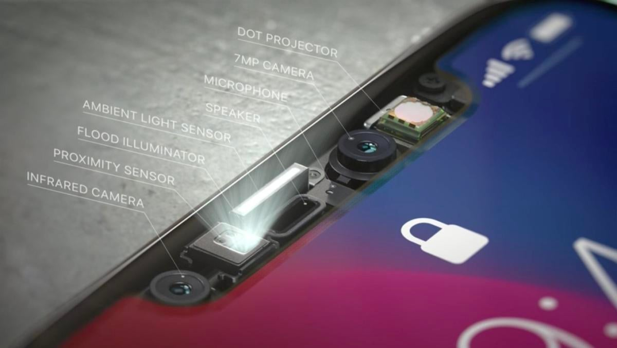 iphonex truedetect faceid components apple