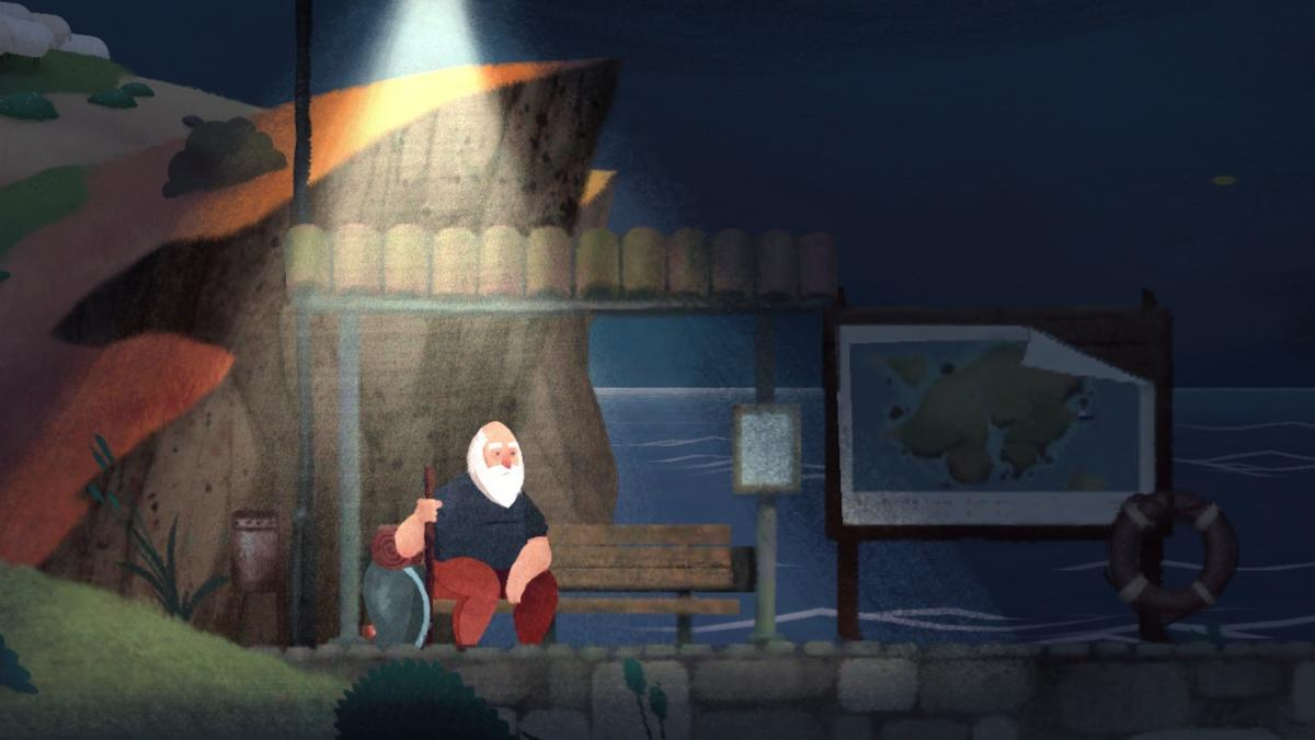 journey old man sitting