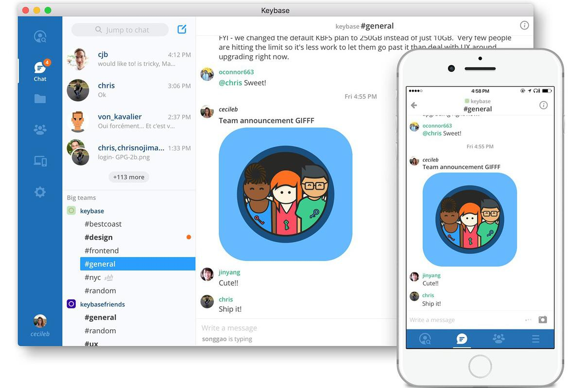 Keybase takes on Slack with new end-to-end encrypted team messaging tool