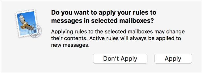 mac911 apply mail rules