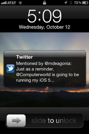 notifications lock iOS 5