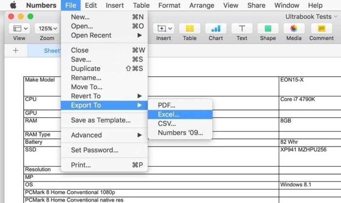 How to open Microsoft Excel spreadsheets in Apple Numbers on