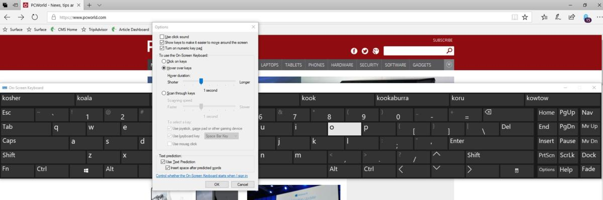 on screen keyboard windows 10