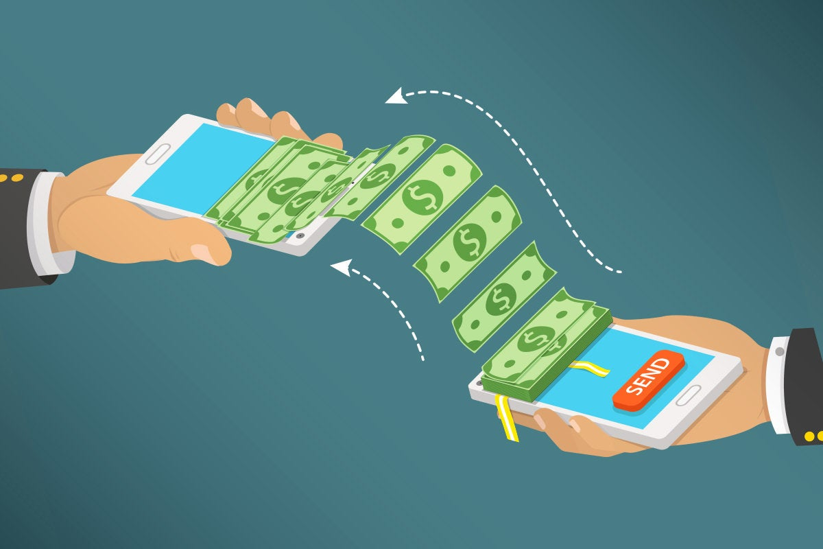 P2P - peer-to-peer money transfer via mobile phone