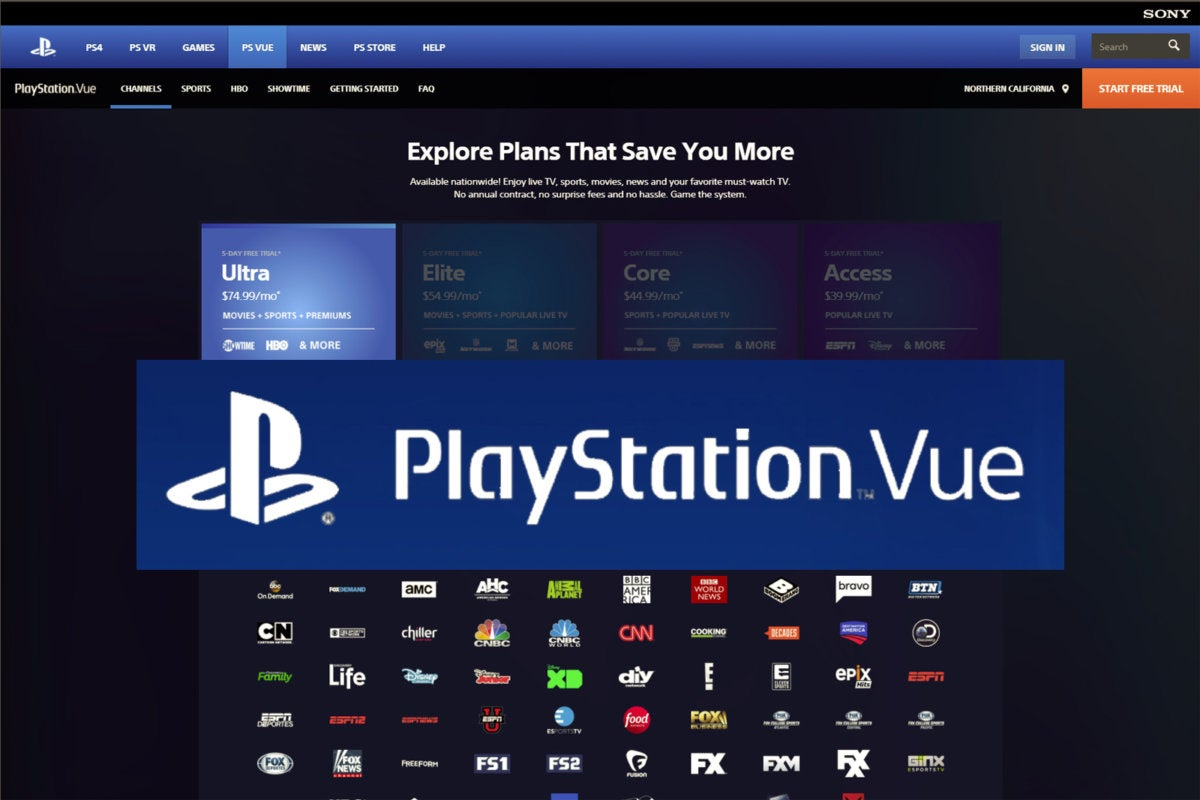 playstation vue plans