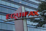 Equifax credit bureau logo and building security breach