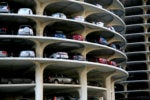 cars in parking garage