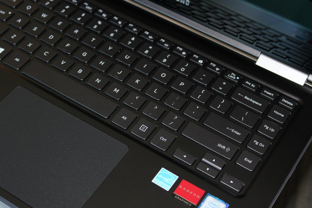 samsung notebook 9 pro keyboard detail