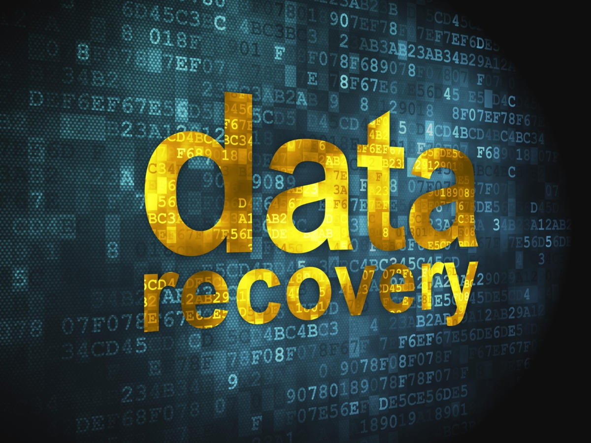 Data recovery on binary background