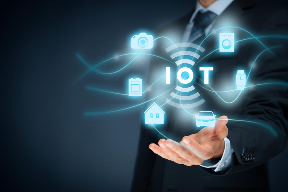 IoT internet of things businessman
