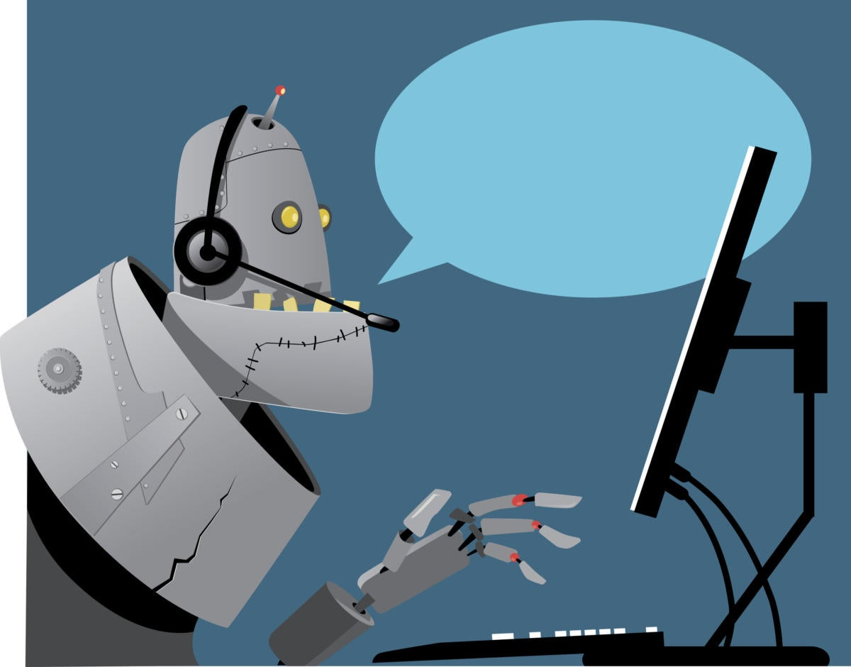 Robot Artificial Intelligence chat bot