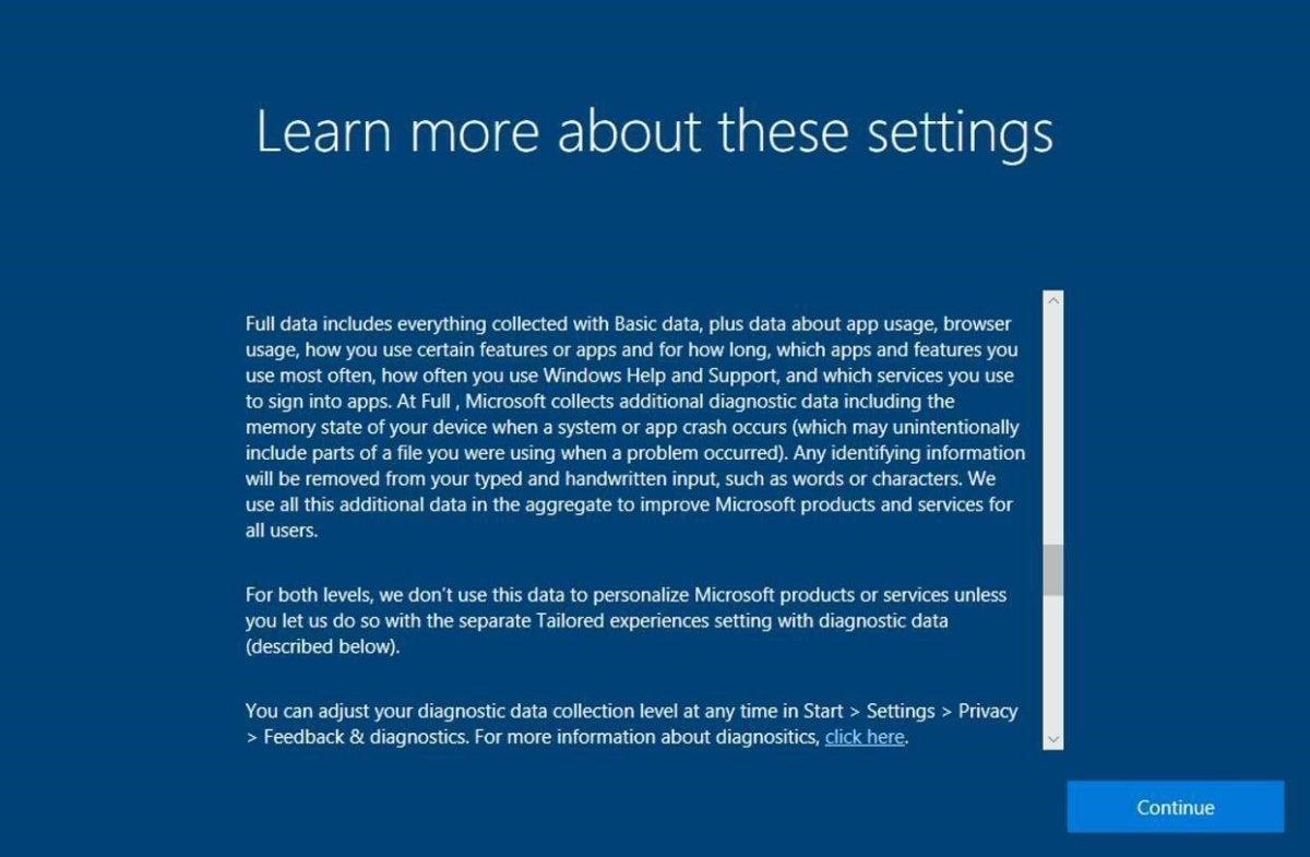 windows 10 fcu privacy statement