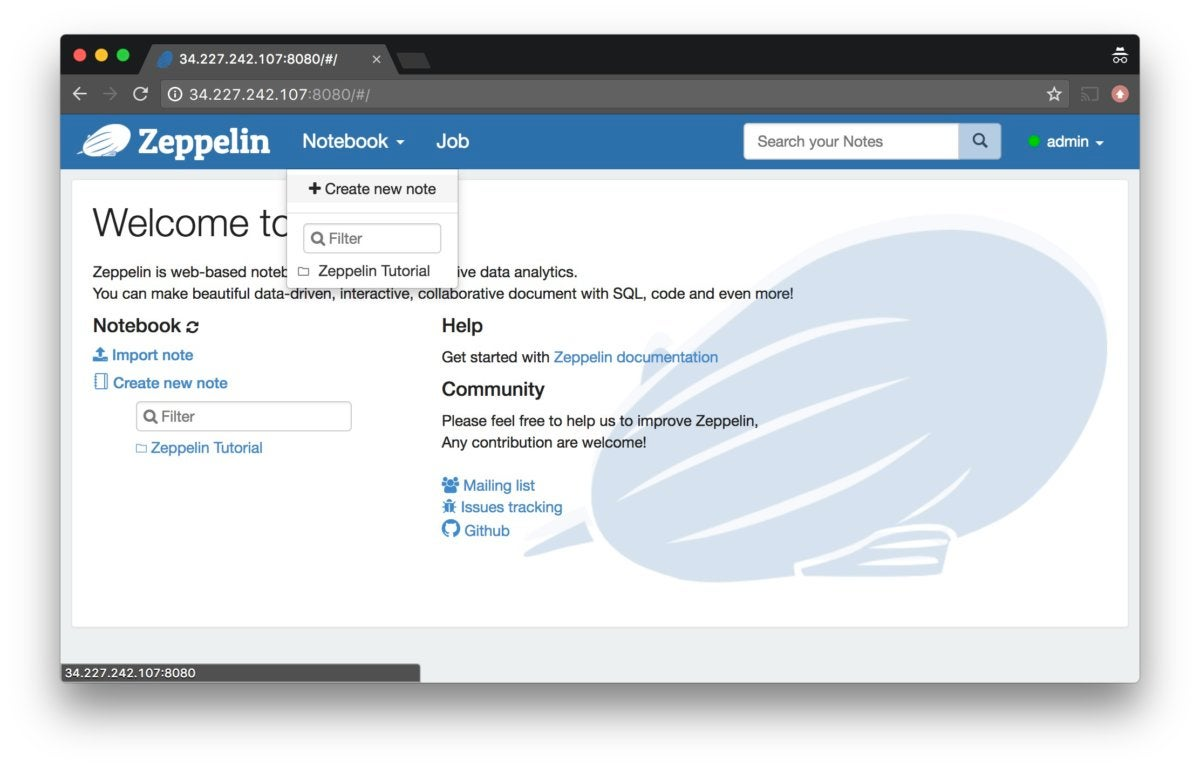 How to set up Zeppelin for analytics and visualization