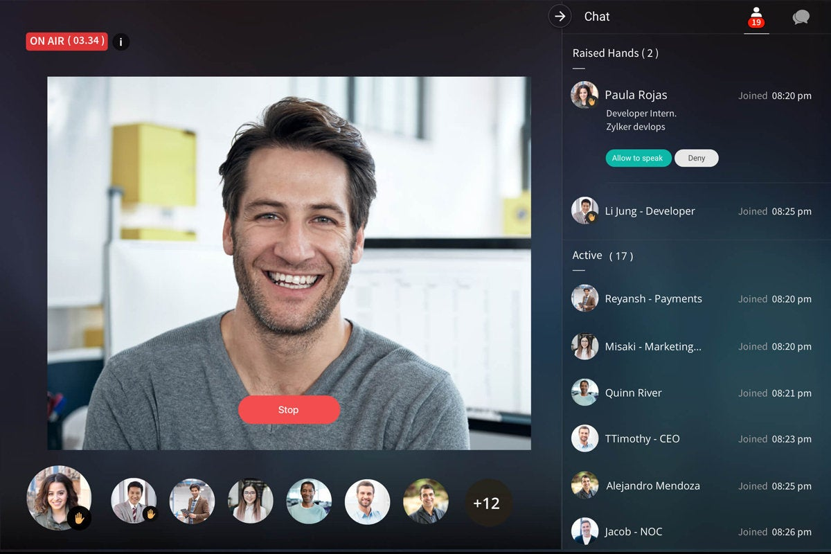 Zoho Cliq video call