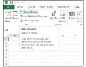 01 application macros using a macro recorder