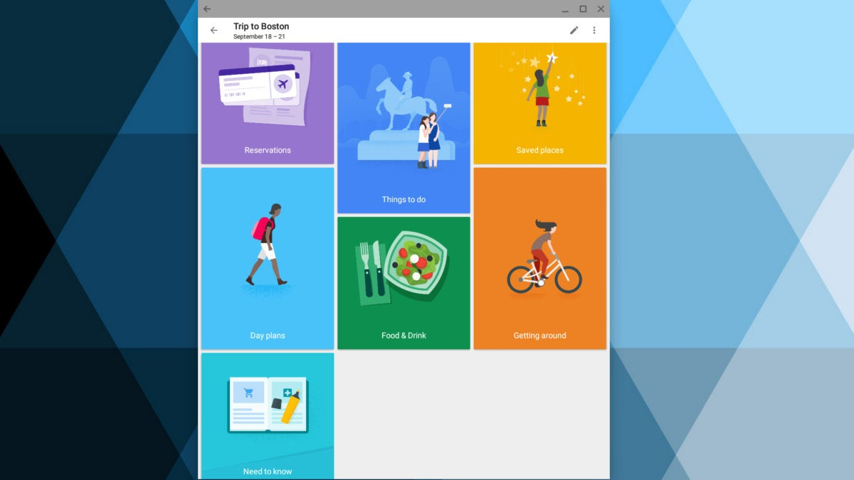 Android apps for Chromebook - Google Trips