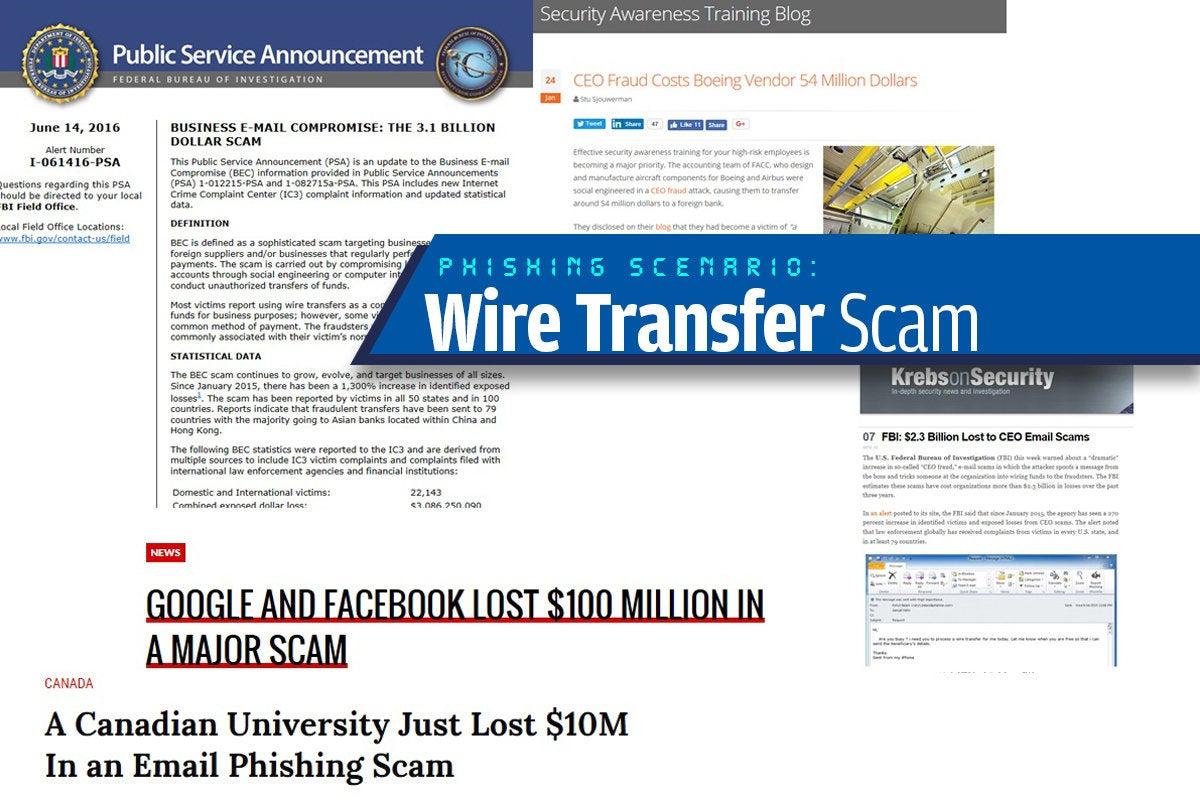 10a wire transfer scam