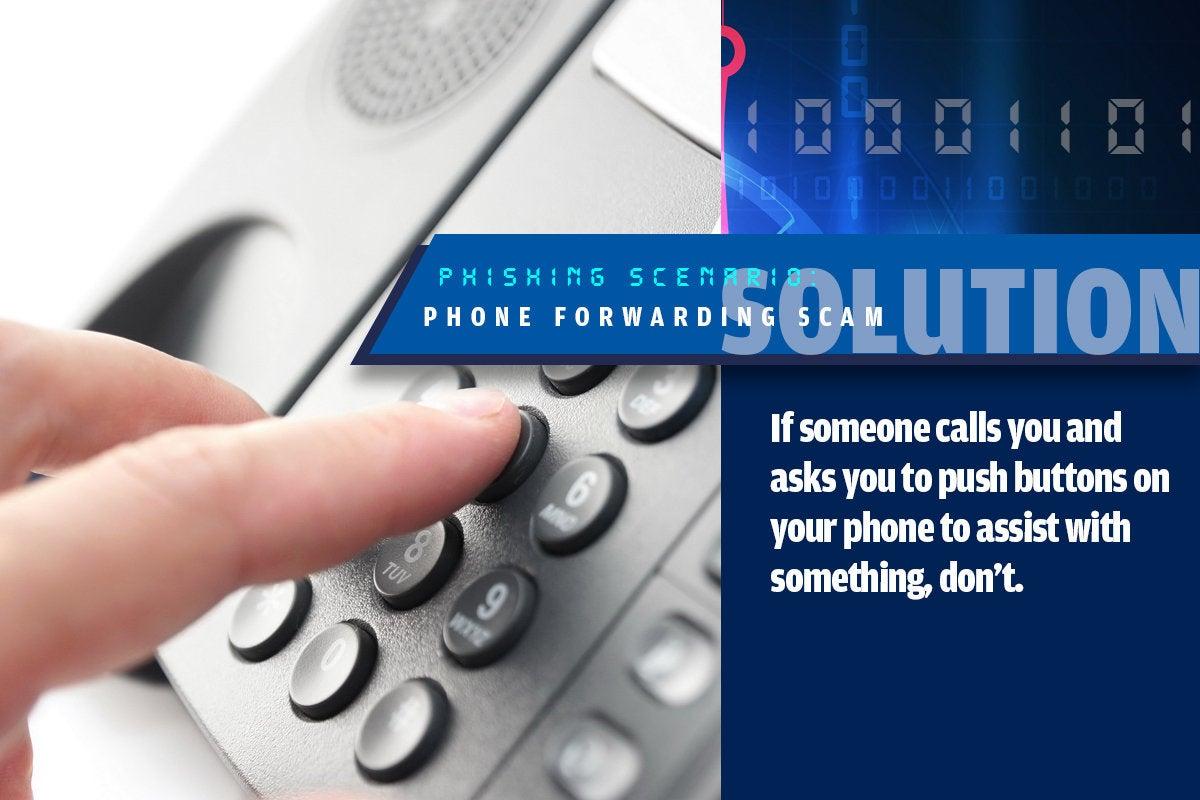 12b phone forwarding scams