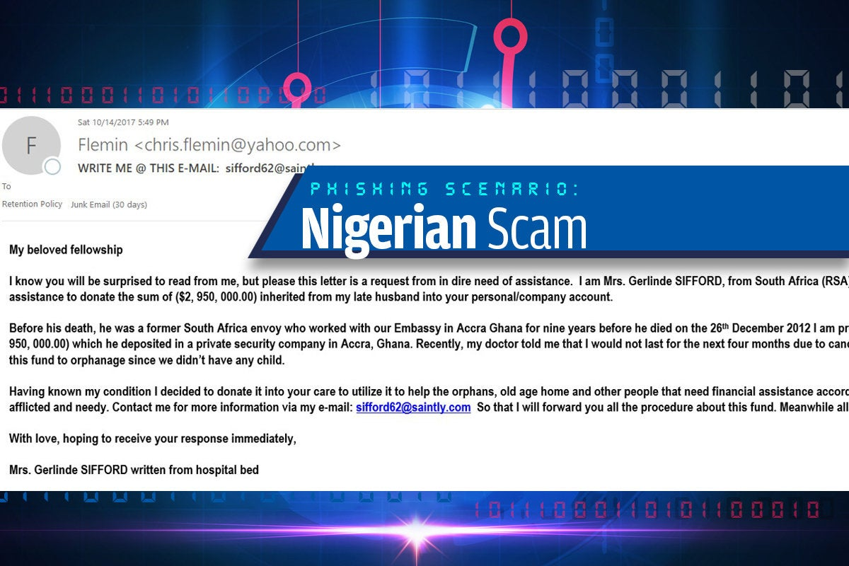 4a nigerian scam