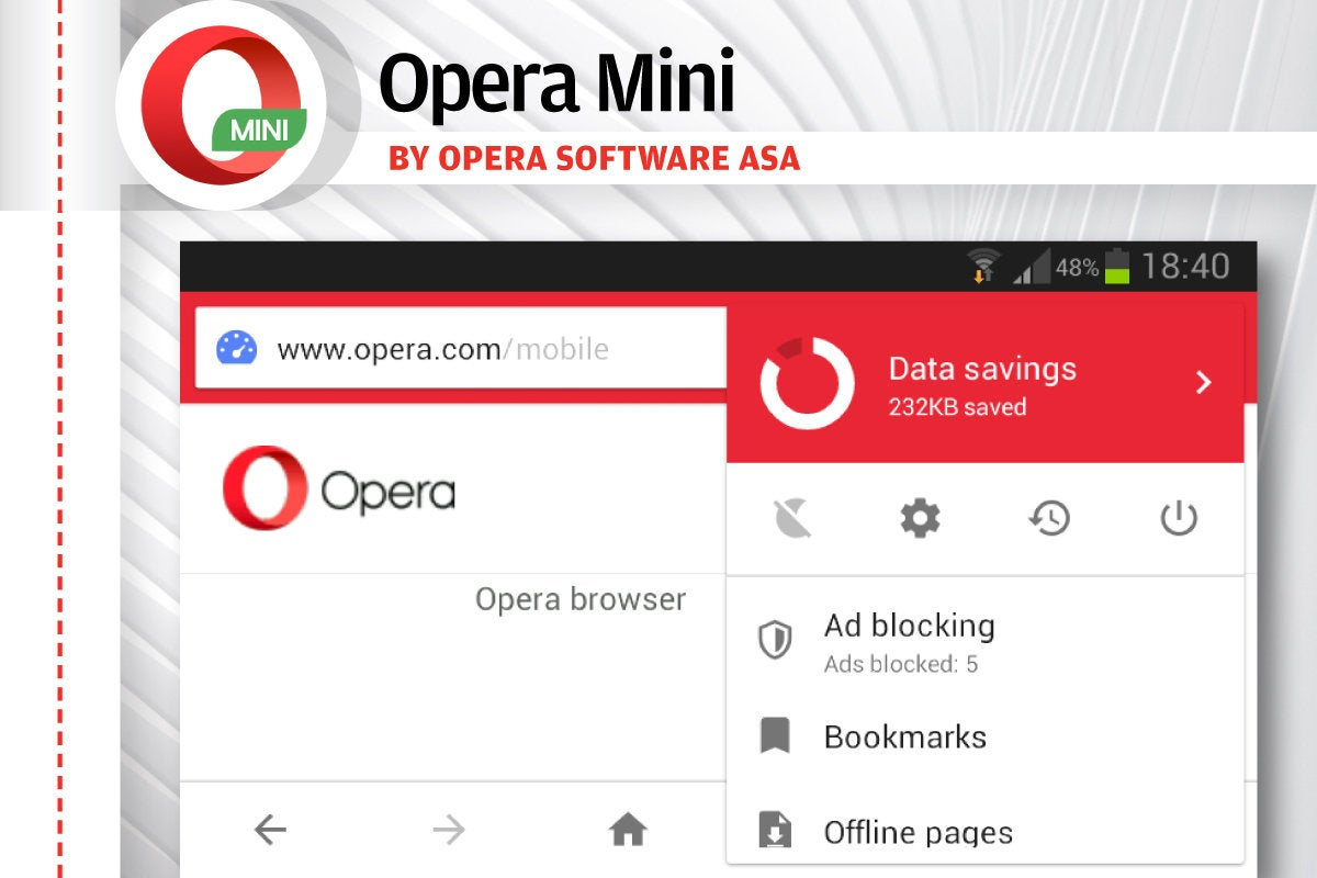 Alternatives to Android's Chrome - Opera Mini