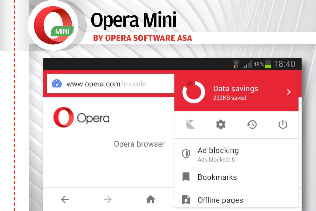 Alternatives to Android's Chrome - Opera Mini