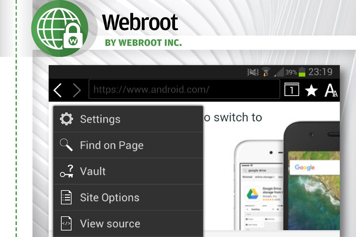 Alternatives to Android's Chrome - Webroot SecureWeb Browser