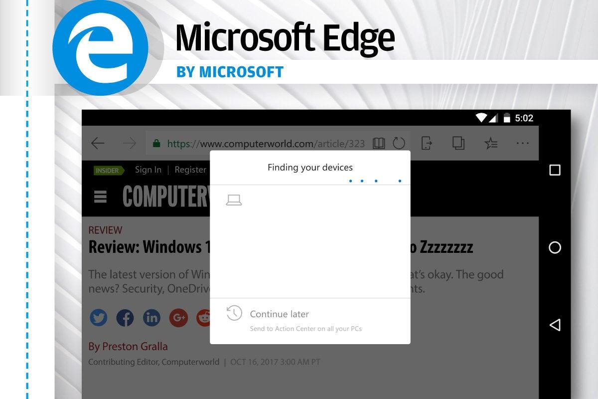 Alternatives to Android's Chrome - Microsoft Edge