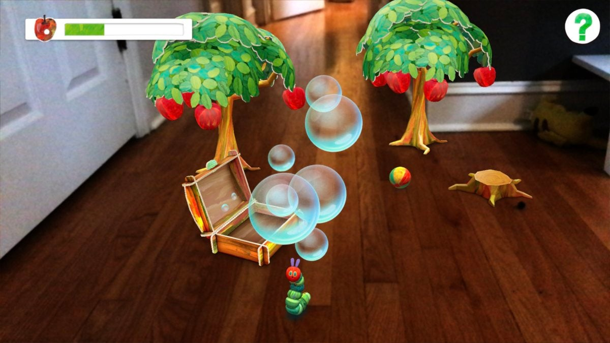 arkit hungry caterpillar