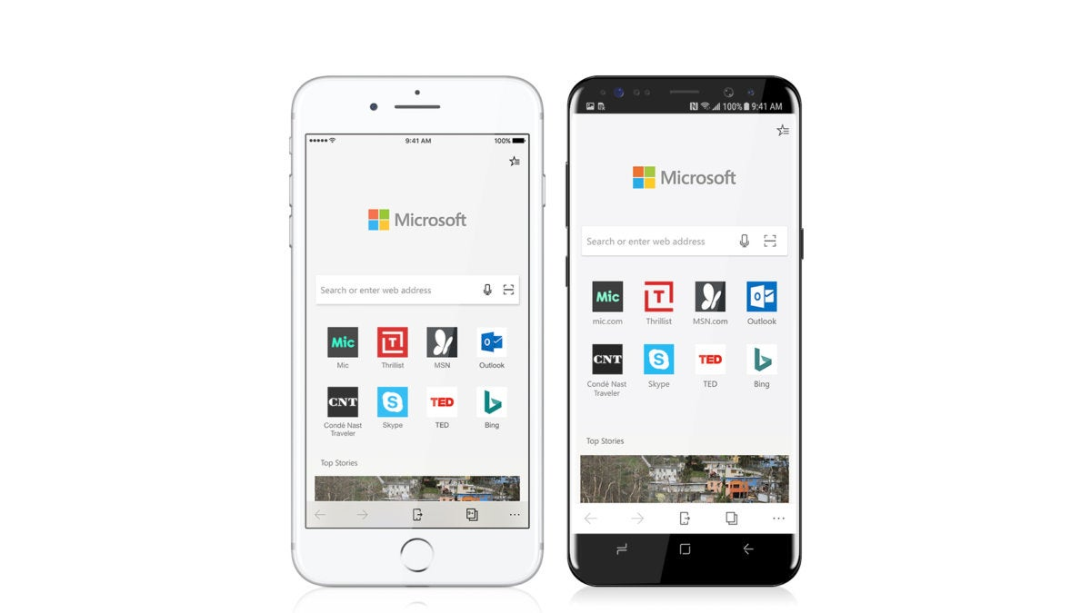 Edge goes mobile on iOS and Android