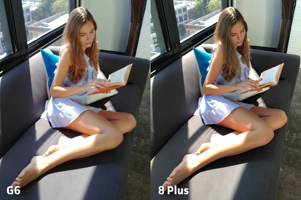 LG G6 vs Apple iPhone 8 Plus clarity1