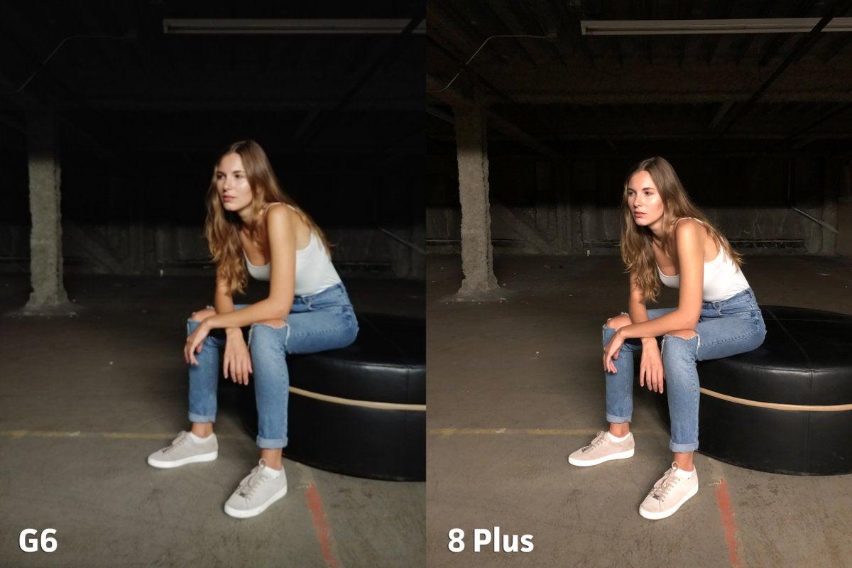 LG G6 vs Apple iPhone 8 Plus clarity2