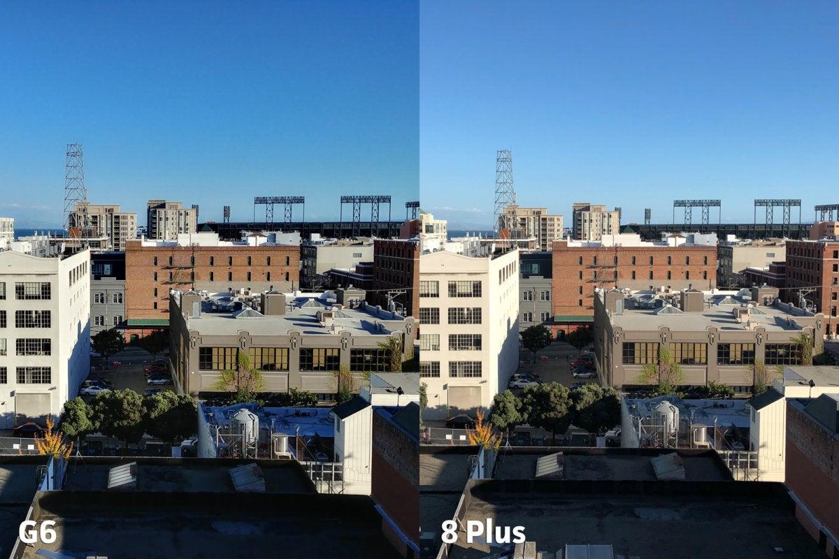 LG G6 vs Apple iPhone 8 Plus clarity5