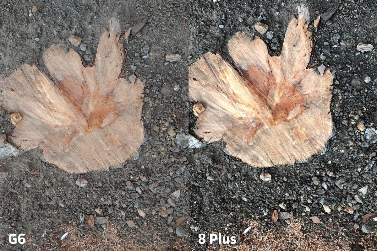 LG G6 vs Apple iPhone 8 Plus clarity6