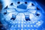 cloud computing - connections - laptops
