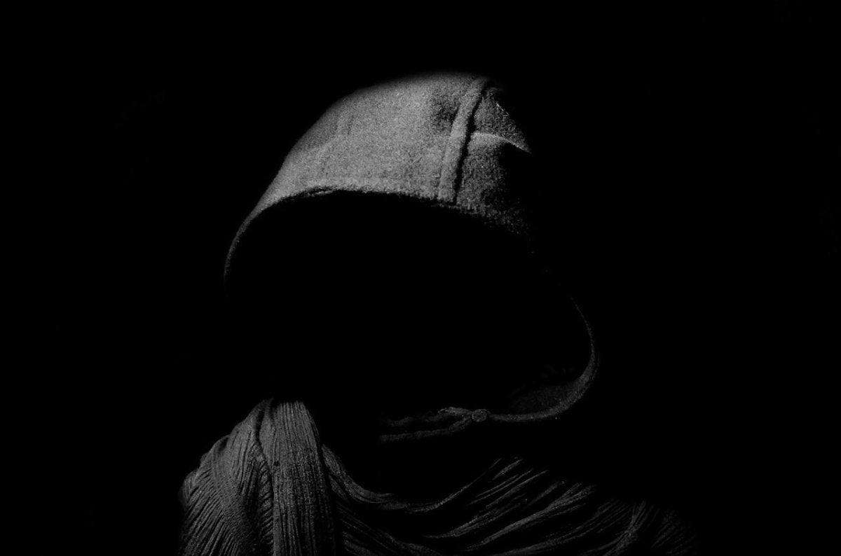 death darkness dark hood hooded