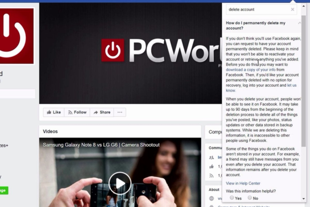 How to delete disable or limit your facebook account pcworld delete your facebook account ccuart Images