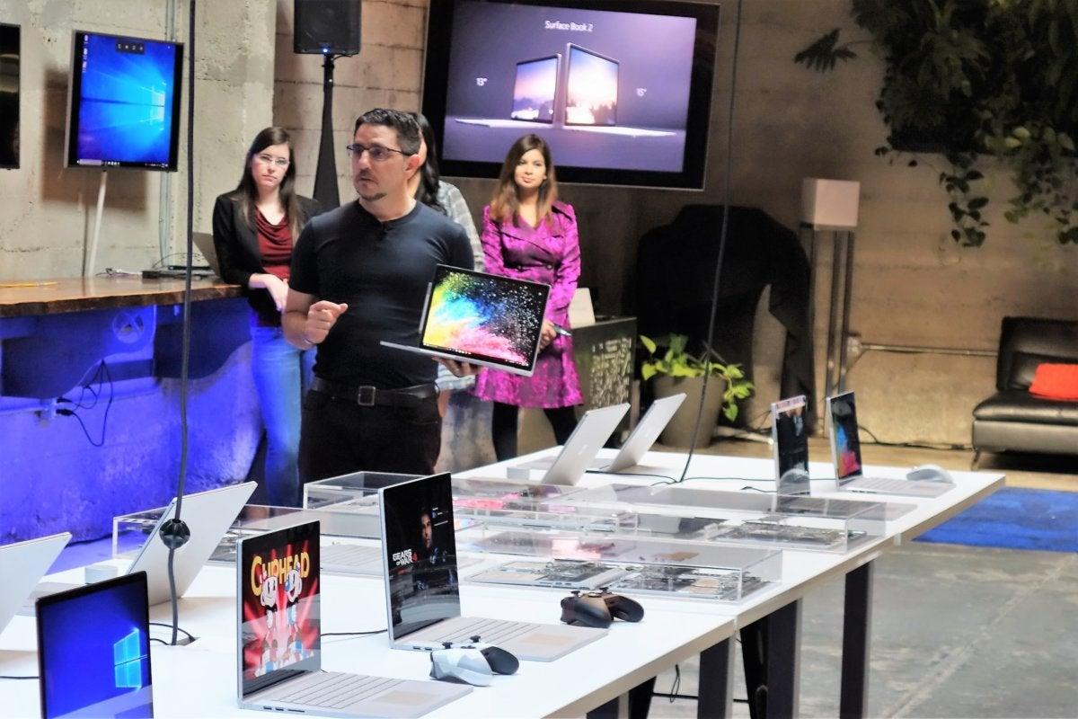Microsoft Surface Book 2 Panos Panay