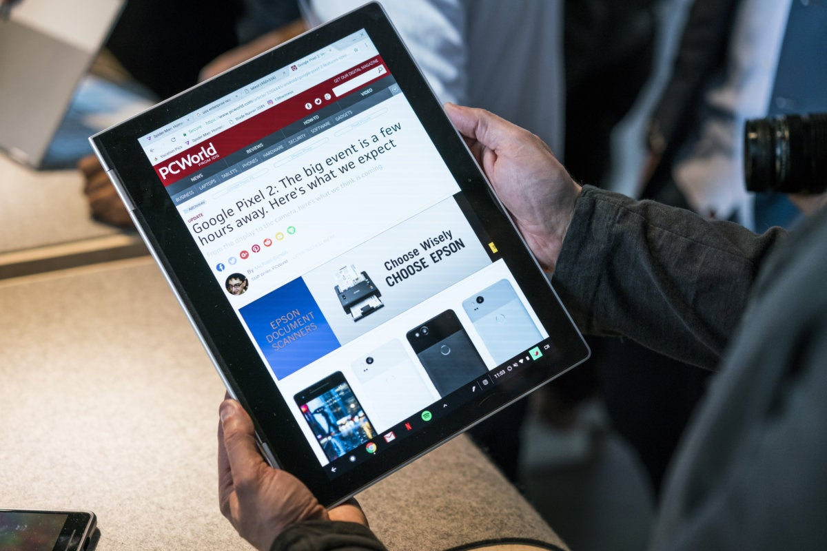 Pixelbook tablet mode
