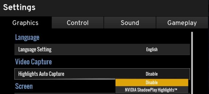 enable shadowplay highlights