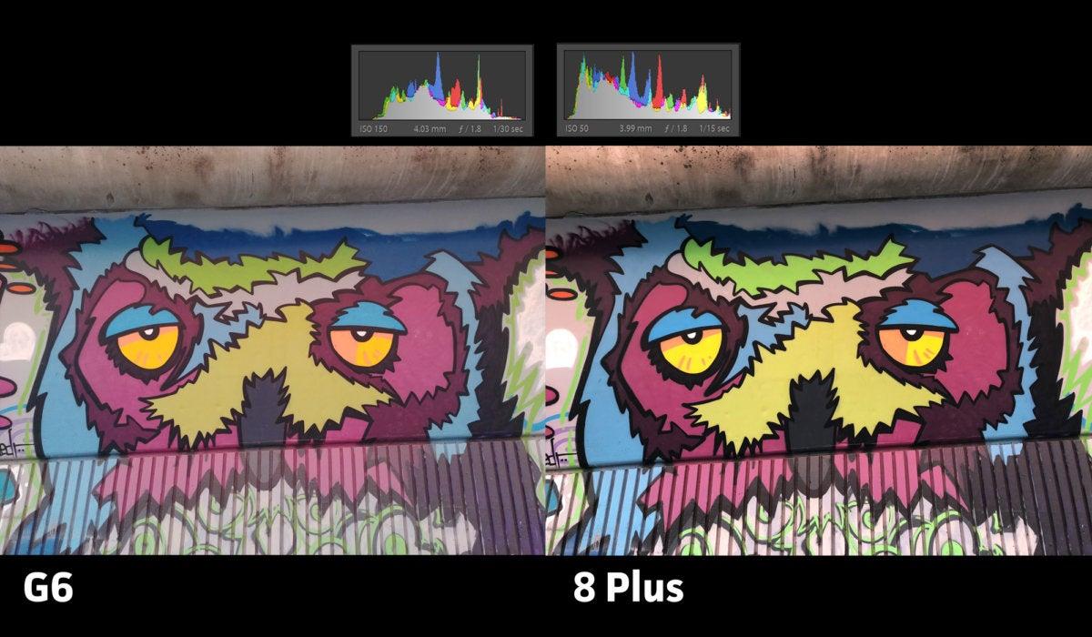 LG G6 vs iPhone 8 Plus exposure10