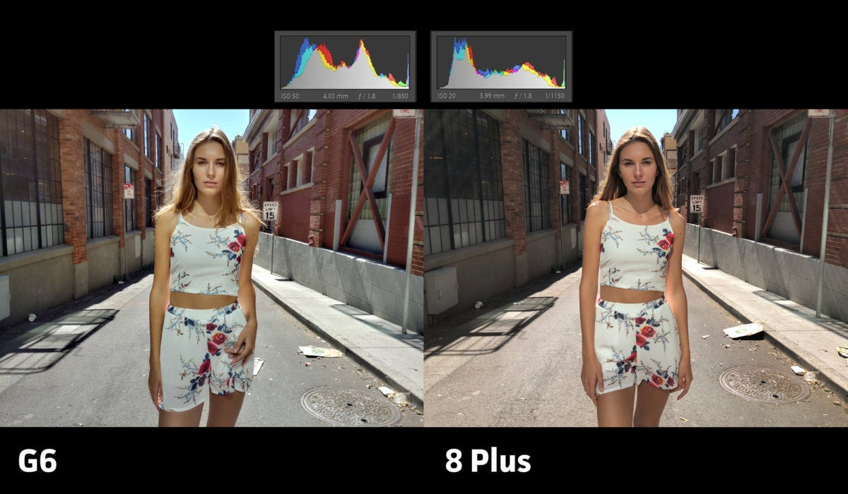 LG G6 vs Apple iPhone 8 Plus exposure2