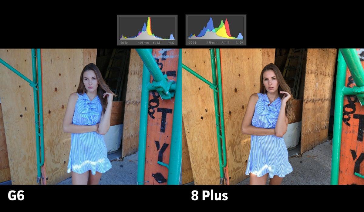 LG G6 vs iPhone 8 Plus exposure8