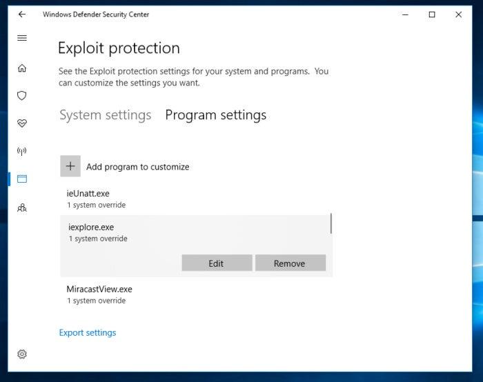 exploit guard windows 10 fall creator 4