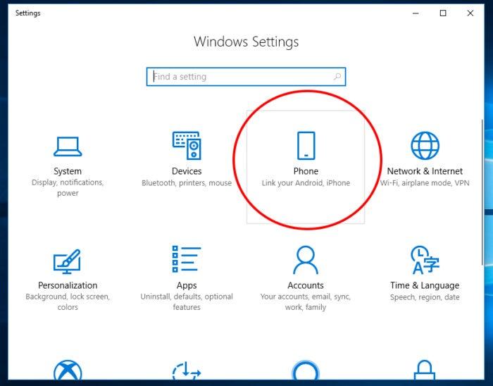 Phone Windows 10 fall creator 1